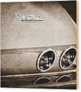 1967 Chevrolet Corvette Taillight Wood Print