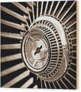 1967 Chevrolet Corvette Wheel Wood Print