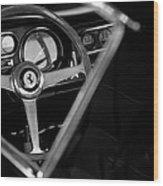 1967 Ferrari 275 Gtb 4 Steering Wheel Emblem Wood Print by Jill Reger