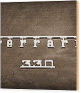 1967 Ferrari 330 Gtc Emblem Wood Print