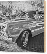 1967 Plymouth Belvedere Gtx 440 Painted Bw Wood Print