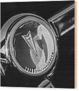 1967 Pontiac Firebird Steering Wheel Emblem Wood Print