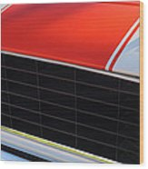 96 Inch Panoramic -1969 Chevrolet Camaro Rs-ss Indy Pace Car Replica Grille - Hood Emblems Wood Print