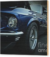 1969 Ford Mustang Mach 1 Fastback Wood Print