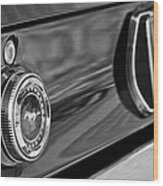 1969 Ford Mustang Taillights Wood Print