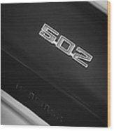 1970 Chevrolet Chevelle Ss 502 Emblem Wood Print