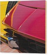1971 Ferrari 365 Gtb-4 Daytona Spyder Hood Emblem Wood Print