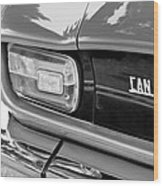 1971 Iso Grifo Can Am Taillight Emblem Wood Print