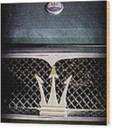 1972 Maserati Ghibli Grille - Hood Emblems Wood Print