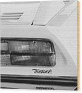 1974 Maserati Merak Taillight Emblem -1265bw Wood Print