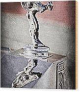 1976 Rolls Royce Silver Shadow Hood Ornament Wood Print