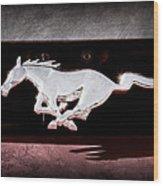 1994 Ford Mustang Corbra Custom Convertible Emblem Wood Print