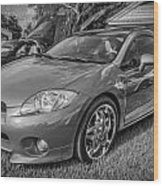 2006 Mitsubishi Eclipse Gt V6 Painted Bw Wood Print