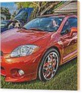 2006 Mitsubishi Eclipse Gt V6 Painted Wood Print