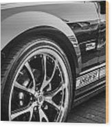 2007 Ford Mustang Shelby Gt Painted Bw   Wood Print