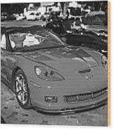 2010 Chevrolet Corvette Grand Sport Bw  Wood Print