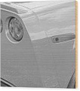 2013 Chevy Corvette Zr1 Bw Wood Print