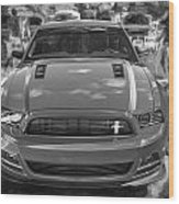 2013 Ford Mustang Gt Cs Painted Bw Wood Print