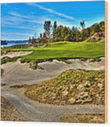 #3 At Chambers Bay Golf Course - Location Of The 2015 U.s. Open Championship Wood Print by David Patterson