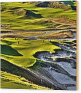 #9 At Chambers Bay Golf Course Wood Print by David Patterson