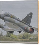 A French Air Force Mirage 2000d Taking Wood Print