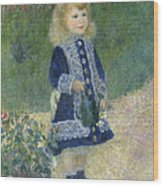 A Girl With A Watering Can Wood Print