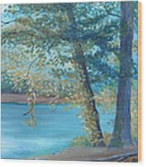 A Good Fishing Day Wood Print by Glenda Barrett