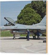 A Hellenic Air Force F-16c Block 52+ Wood Print