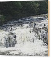 A Lovely View Of A Falls On Kayaderosseras Creek Wood Print