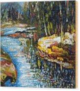 A Morning At River Bank Park Ny Wood Print