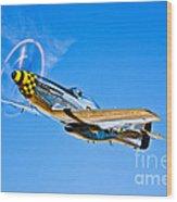 A North American P-51d Mustang Wood Print
