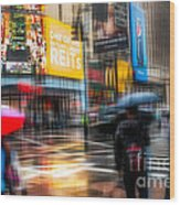 A Rainy Day In New York Wood Print by Hannes Cmarits
