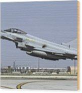 A Royal Air Forcetyphoon Fgr4 Taking Wood Print
