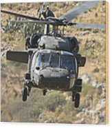 A Uh-60l Yanshuf Helicopter Wood Print