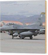 A U.s. Air Force F-16c Fighting Falcon Wood Print