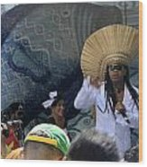 A View Of Carlinhos Brown At The 2009 Cleansing Of 46th Street Wood Print
