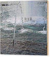 A World War Fountain Wood Print