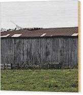 Abandoned Barn Kentucky Usa Wood Print