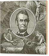 Abraham Lincoln Wood Print by English School