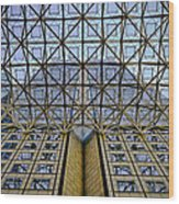 Abstract Architecture Wood Print