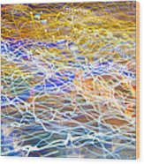 Abstract Background - Citylights At Night Wood Print
