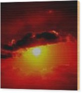 Abstract Sun Set Gran Cayman Wood Print