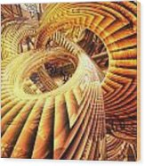 Abstract That Twisted Escher Fx  Wood Print