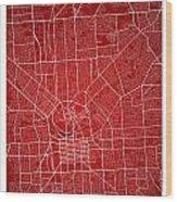 Adelaide Street Map - Adelaide Australia Road Map Art On Colored Wood Print