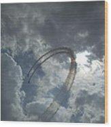 Aerial Display Wood Print