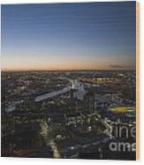 Aerial View Of Melbourne Wood Print