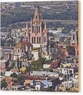 Aerial View Of San Miguel De Allende Wood Print