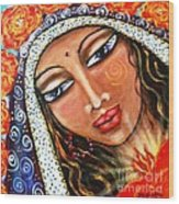 Akasha - She Who Carries The Memories Wood Print