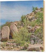 Al Safa Mountain Wood Print