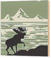 Alaska Denali National Park Poster Wood Print